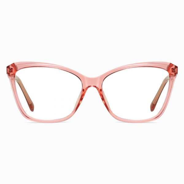 pink square cat eye glasses for women