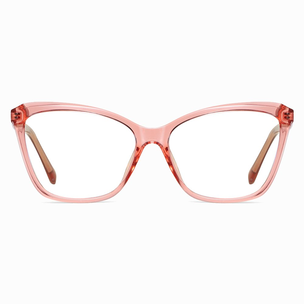 Pink Square Eyeglasses