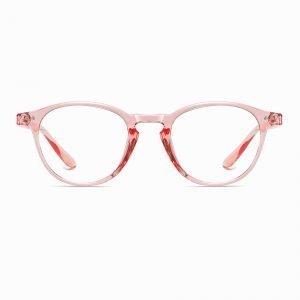 Pink Circle Eyeglasses Women