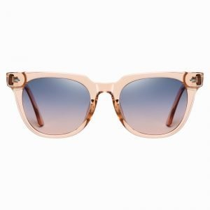 pink square sunglasses with purple gradient lenses