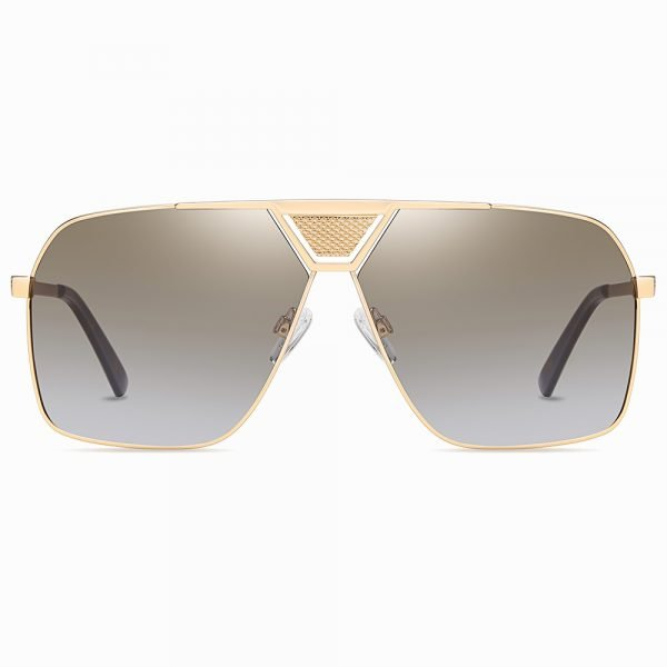 double bridge light brown sunglasses for men