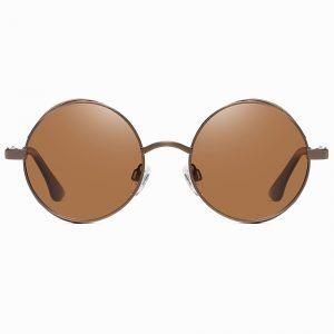 Vintage Brown Steampunk Lennon Round Sunshade for Men Women