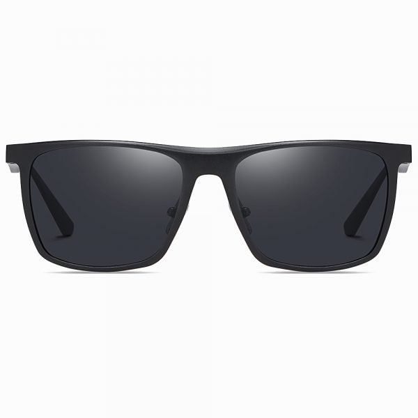 black rectangle sunglasses with polarized lenses 100% UV protection