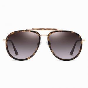 Tortoise Aviator Sunglasses for Men