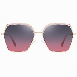 Purple gradient square sunglasses for women