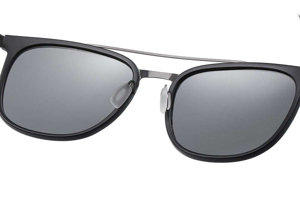 double bridge square sunglasses
