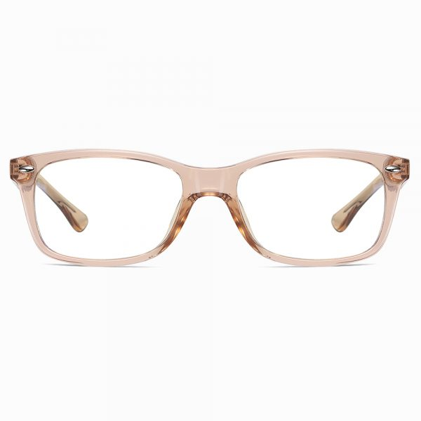 champagne rectangular eyeglasses for women