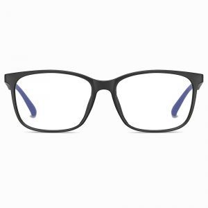 men black rectangle eyeglasses
