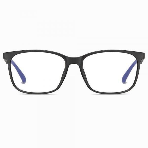 men black rectangle eyeglasses