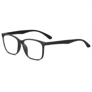 men rectangle eyeglasses with black temple arms