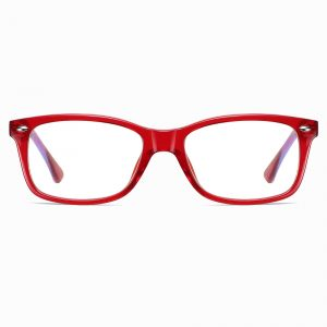 Red Rectangle Eyeglasses