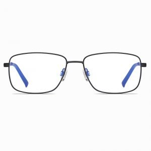 black rectangle eyeglasses for men