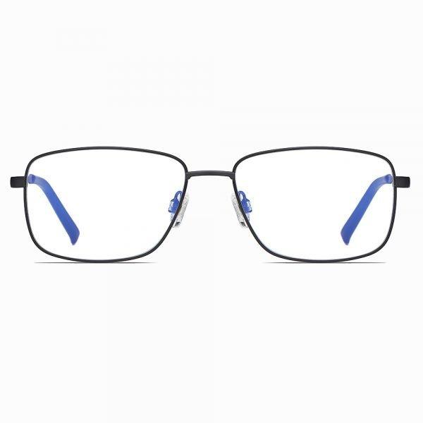 black rectangle eyeglasses for men