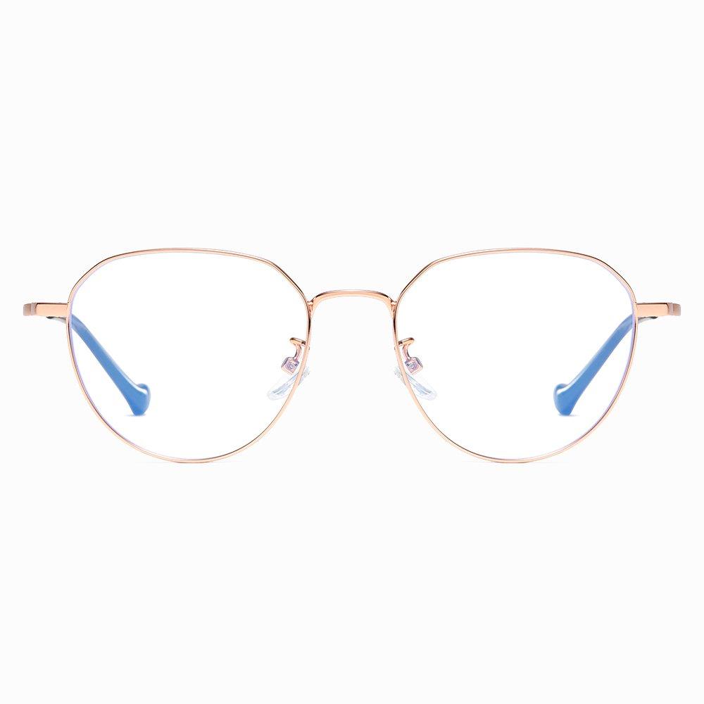 rose gold wire frame eyeglasses for women