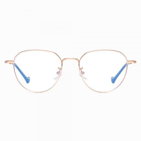 rose gold round eyeglasses for women