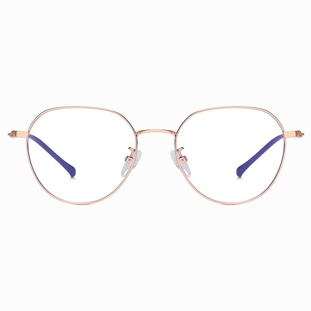rose gold wire frame eyeglases
