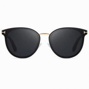 Black Gold Round Sunglasses