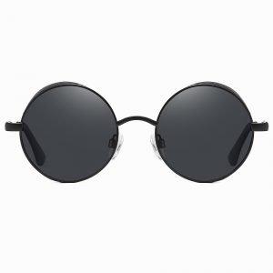 Black Steampunk Lennon Round Sunshade for Men Women