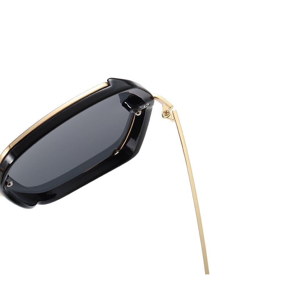 black frames with gold hinges
