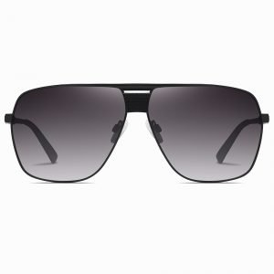 Black Gradient Oversized Square Sunglasses for Men Women