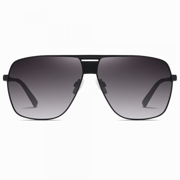 oversize square black gradient sunglasses for men