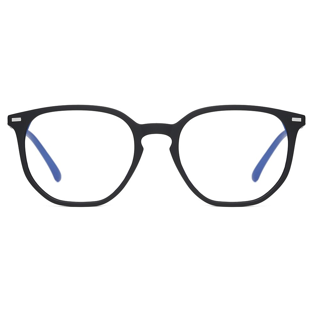 Black square eyeglasses for men women