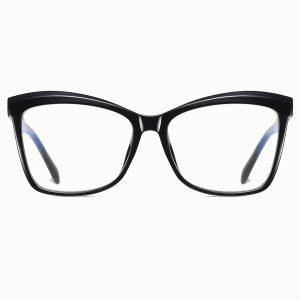 Black Square Cat Eye Glasses for Women