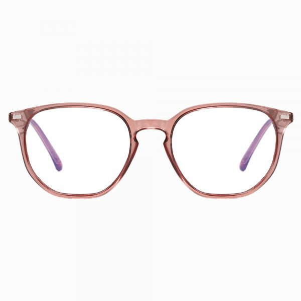 Square glasses with clear red frames for women men