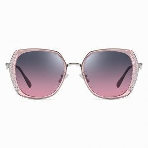 purple gradient sunglasses with pink frames