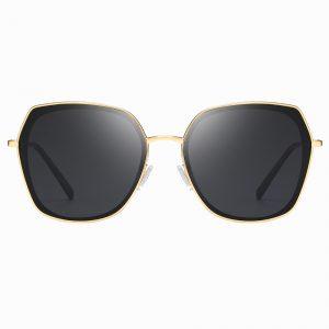 Black Gold Square Sunglasses for Women