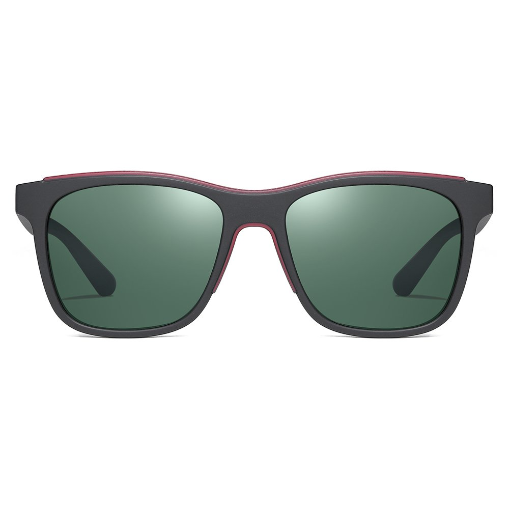 black frame square sunglasses