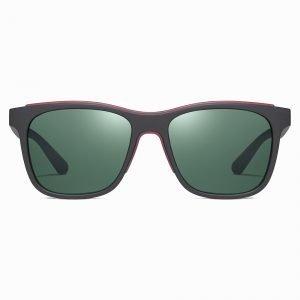 black square sunglasses for men with green G15 lenses