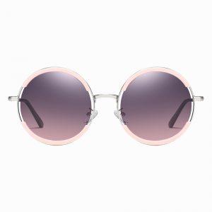 Purple Pink round Sunglasses
