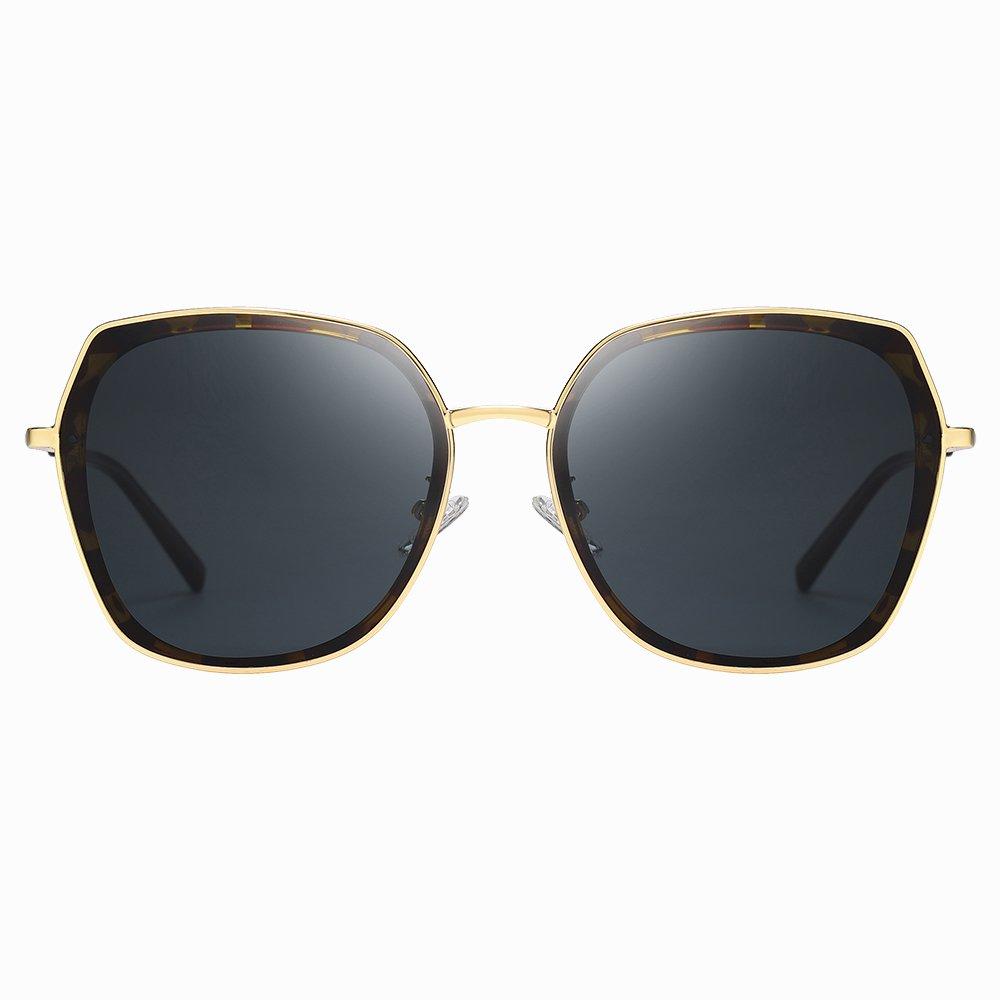 Tortoise Square Sunglasses for Women