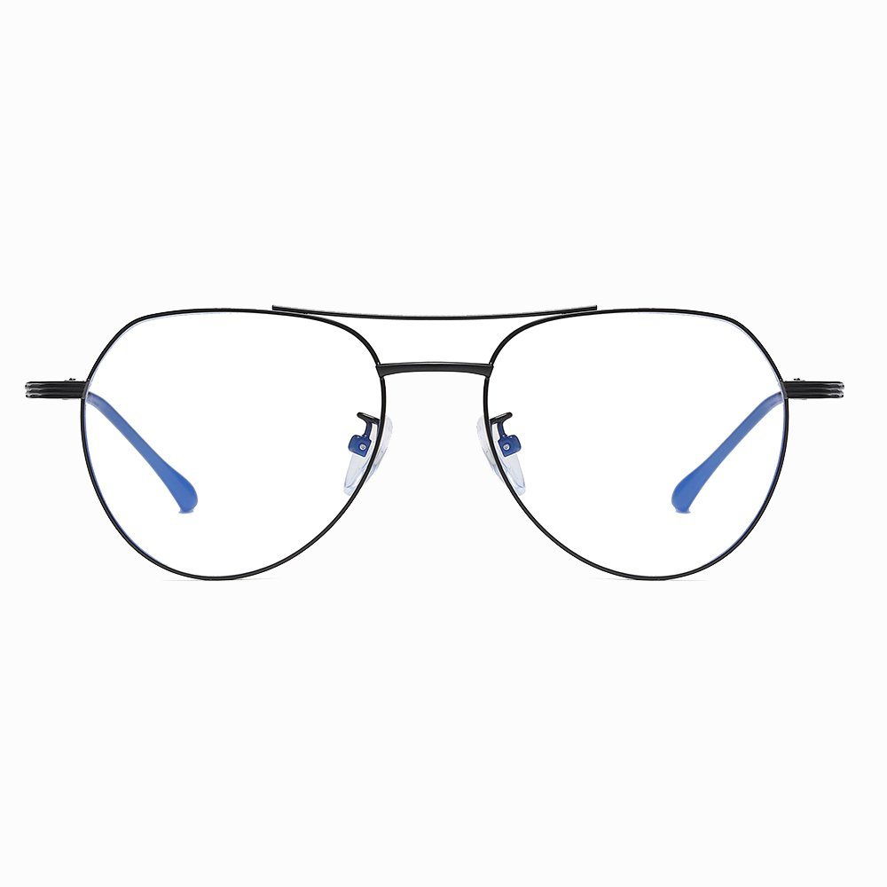 double bridge wire frame eyeglasses