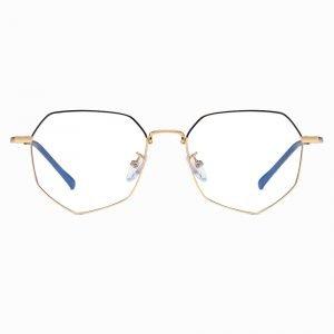 women geometric eyewear with blue light blocking