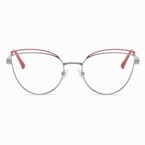 Red Round blue light glasses